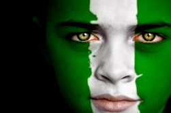 Nigerian Flag_face of a boy