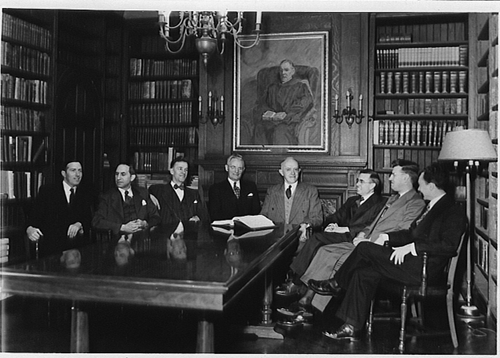 John Skilton, John Murray, Ned Stonehouse, Cornelius Van Til, R. B. Kuiper, Paul Woolley, E. J. Young, and Meredith Kline